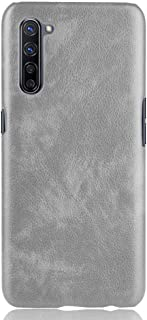 zl one Compatible with/Replacement for OPPO K7 5G PU Leather Case Back Cover (Grey)