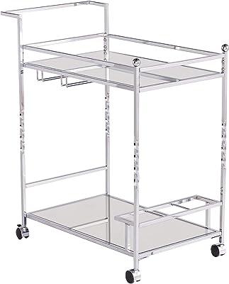 Southern Enterprises AMZ6853ZH Ivers Bar Cart, Silver