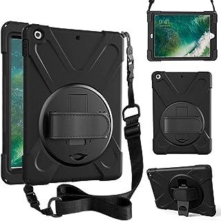 ZenRich iPad 5th/6th Generation Case, iPad 9.7 Case 2017/2018 with Rotatable Kickstand,Hand Strap and Shoulder Strap zenri...