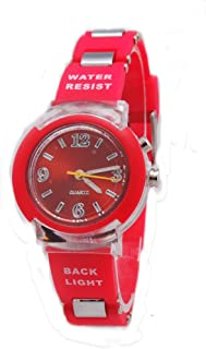 Kids New Flashing Light up Color Changing LED Dial Analog Watch