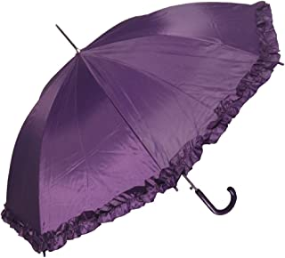 Women's Open Parasol Umbrella with Ruffle