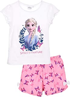 Pigiama Bambina Disney Frozen II t-Shirt e Pantaloncino in Cotone Stampato 2828