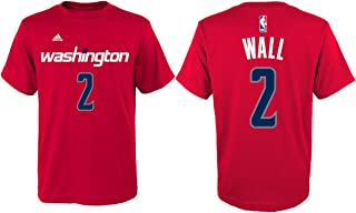 John Wall Washington Wizards #2 Red Kids Home Name and Number T Shirt