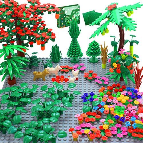 Sawaruita Garden Park Building Block Toy Set?Flower Botanical Scenery Accessories 450 + ,