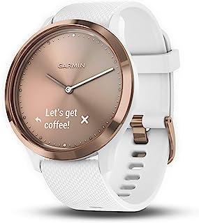 Garmin vivomove HR, Hybrid Smartwatch for Men and Women, White/Rose Gold