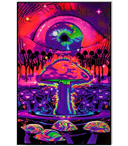 Mushroom Ripple Blacklight Poster 23 x 35in