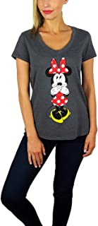 Womens Minnie Mouse V-Neck Tee