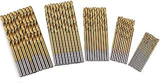 50 Piece/Set of 1,1.5,2,2.5,3mm Plating Titanium Coated Metal HSS High Speed Steel Drill Bit Set Tool