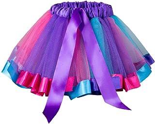 SHOBDW mujer, Falda del Tutu para Niña,SHOBDW Bebé Niños Enagua Arco Iris Pettiskirt Fiesta Linda Niños Vestidos de Cumpleaños Falda de Bowknot Ropa de Baile Princesa Traje de Baile
