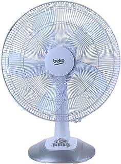 Beko EFT6100W - Ventilador (Ventilador con aspas para el hogar, Azul, Piso, Mesa, Ventana, Botones, Giratorio, Corriente alterna)