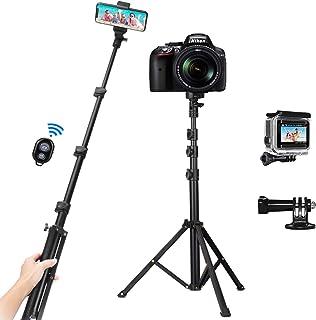 PEYOU Palo Selfie Trípode, 53'' Palo Selfie Movil, Compatible para Gopro, con Bluetooth Control Remoto y Adaptadore para G...