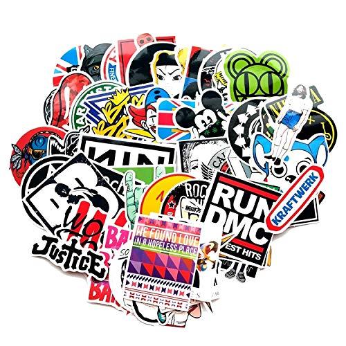 FSVGC Rock Music Hip Hop Graffiti Stickers Punk Band Music Street Art Stickers Mobile Phone Laptop Skateboard Snowboard Bike Decals 60Pcs