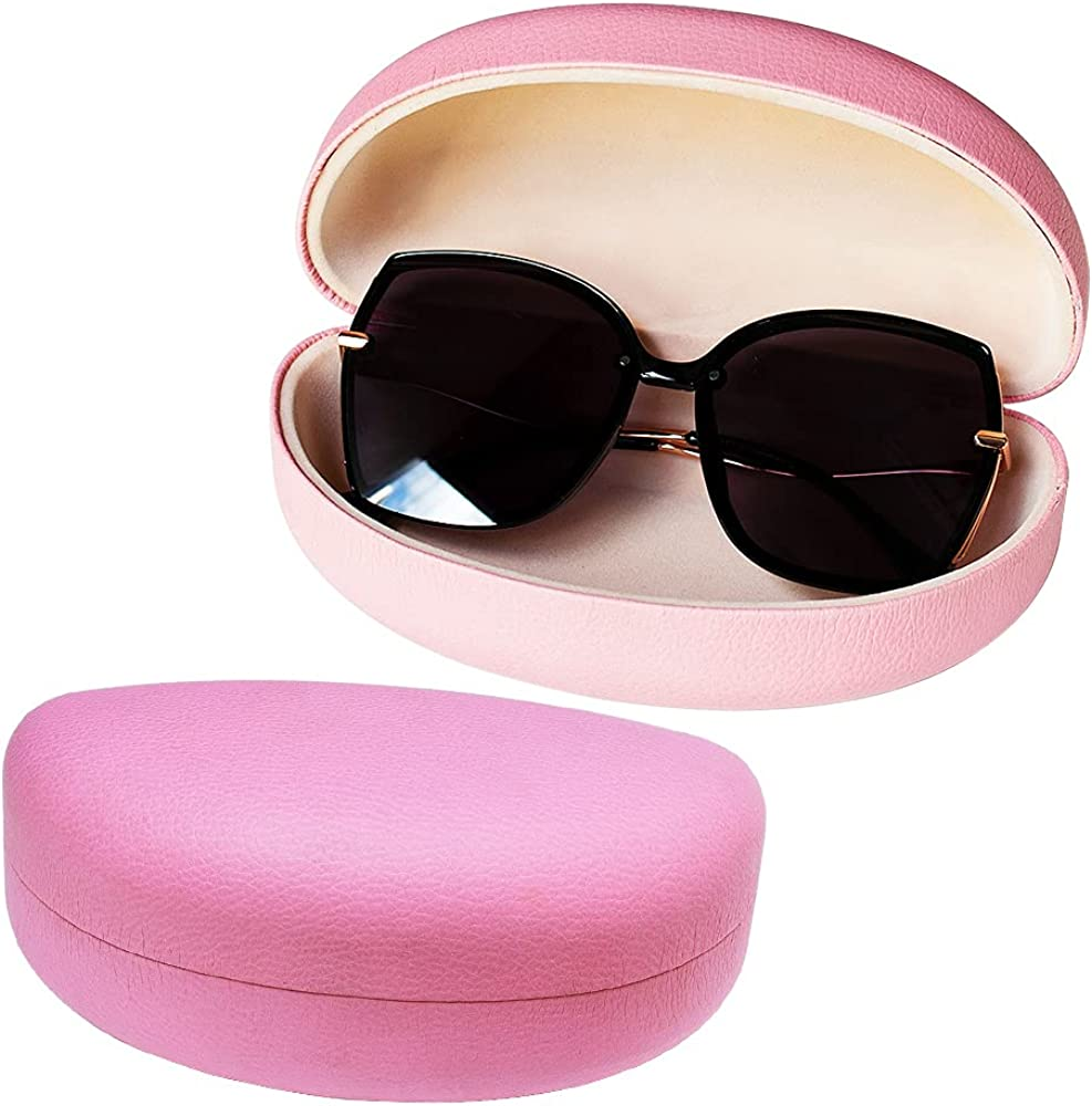 Oversized Sunglasses All stores are safety sold case Large Hard Wom Eyeglass Clamshell Case