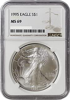 1995 silver eagle ms69