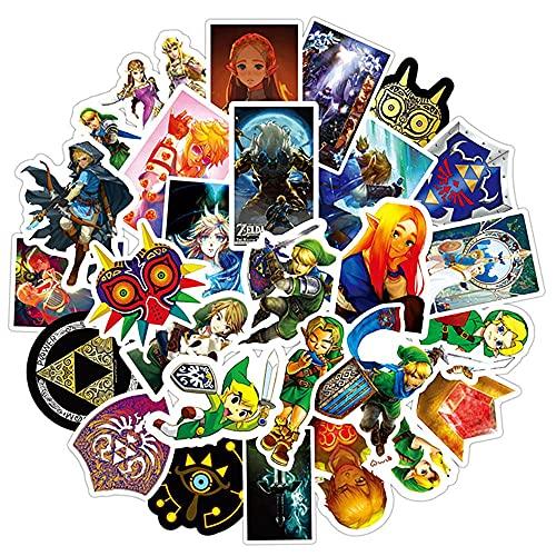 Pegatina Zelda 100 unids / Lote Zelda Link Master's Sword Maleta de Equipaje Impermeable Graffiti Sticker