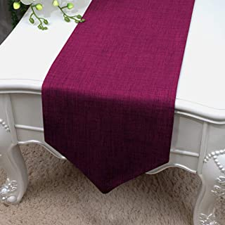 Essencea Faux Silk Table Runner V-End Seamless Solid Elegant Classic Table Top Decor- Ideal for Everyday Use | Party Decor...