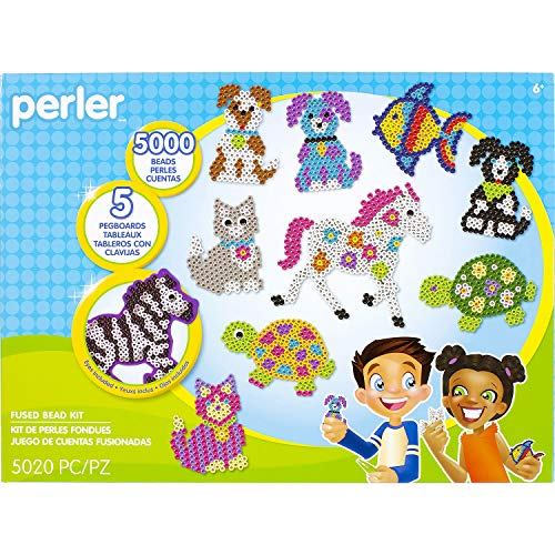 Perler Pet Parade Deluxe Fuse Bead Craft Activity Kit, 5020 pcs