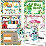 Thinking of You School Themed Blank Postcards For Teachers To Send To Students, Total of 30 4'x6' Fill In Notecards (5 of each design) by AmandaCreation…