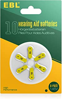 EBL Size 10 PR70 Hearing Aid Batteries 60 Pack 1.45V Zinc-Air Battery