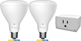 C by GE Smart Bundle Pack with 2 Smart Bulbs and Smart Plug (2 LED BR30 Tunable White Bulbs + On/Off Smart Plug), Works with Alexa and Google Assistant, WiFi Enabled