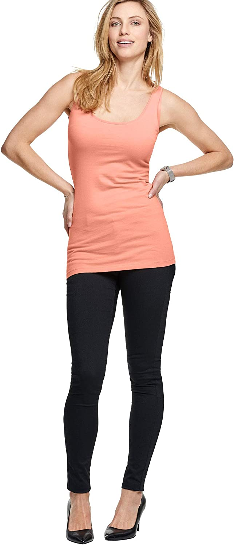 ellos Women's Plus Size Long Sleeveless Tank Top