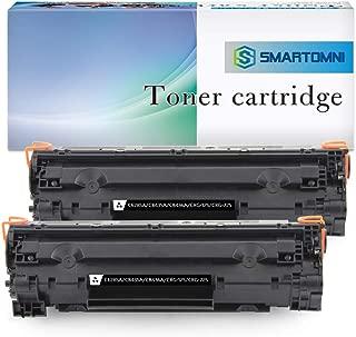S SMARTOMNI Compatible Toner Cartridge Replacement for HP 85A CE285A CB435A CB436A Canon 125 (Black, 2PK) for use in HP LaserJet P1102w P1109w M1212NF M1217nfw P1505 M1522nf P1006 Canon LBP6000 MF3010