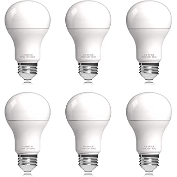 Helloify A19 LED Light Bulb, 9W (60W Equivalent), UL Listed, 2700K Soft White, Energy Saving Lamp for Office/Home, Non-dimmable, E26 Screw Base, 6 Count
