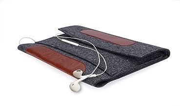 HzYisida TM Premium Portable Felt Carrying Sleeve Bag Pouch Case for Huawei MediaPad M5 Pro 10.8/iPad Pro 10.5/iPad 9.7 2018/Lenovo Moto Tab 10.1/Samsung Galaxy Book 10.6 (Black)