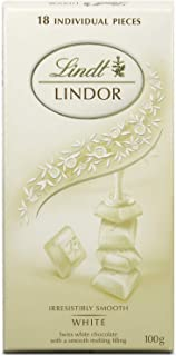 Lindt White Lindor Singles Chocolate, 100 gm