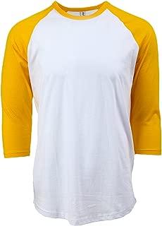 Rich Cotton Casual 3/4 Sleeve Baseball T-Shirt Raglan Jersey Tee Unisex Men Women 10 Colors Fit Soft Cotton Jersey S-5XL