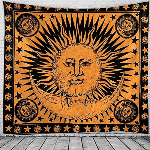 KHKJ Tapiz de decoración de habitación de Dios Sol Mandala, tapices de decoración de Pared, decoración del hogar, decoración Boho, Tapiz de brujería A7 230x180cm