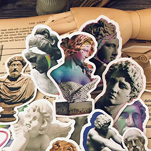 Vintage Stone Carving Sticker Diy Craft Scrapbooking Album Junk Journal Planner Decoratieve Stickers17pcs/pack