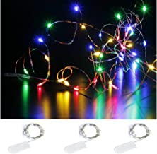 Dollhouse Miniature Christmas Lights String 12 Colored Bulbs