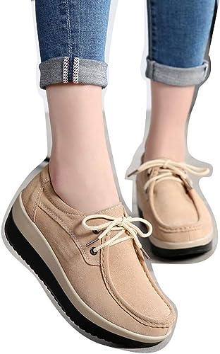 Peas chaussures Chaussures Femme Escargot Chaussures Chaussures de Cricket (Couleur   Marron, Taille   37)