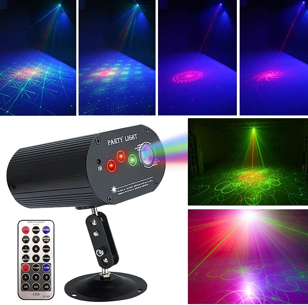 Party lights disco lights dj stage lights strobe lights sound activated LED projector,for Christmas Halloween decoration party festival show