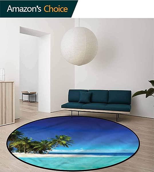 RUGSMAT Ocean Area Silky Smooth Rugs Seaside Nature Tropic Floor Mat Home Decor Diameter 24