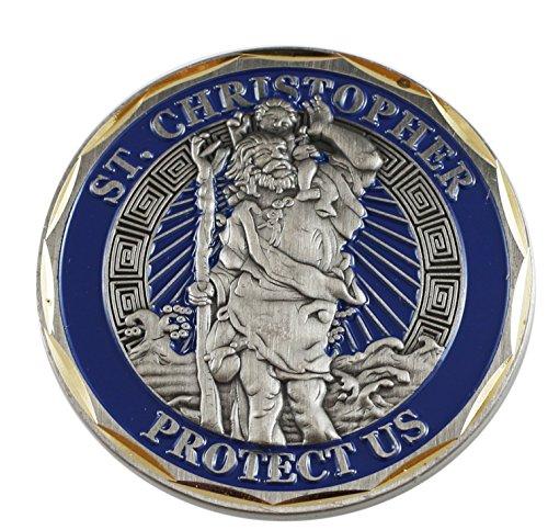 St. Christopher nous protéger Challenge/prière pièce de monnaie (Value Pack), stchrisCC