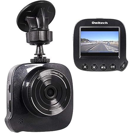 オウルテック ドライブレコーダー ドラレコ HD録画 F2.0レンズ モーションセンサー/Gセンサー 2.4インチTFT液晶 12V/24V車対応 ブラック OWL-DR05-BK