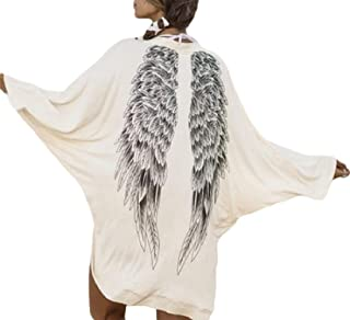 Women's Stylish Cotton Angel Wing Solid Color Fall Bat Sleeve Cardigan