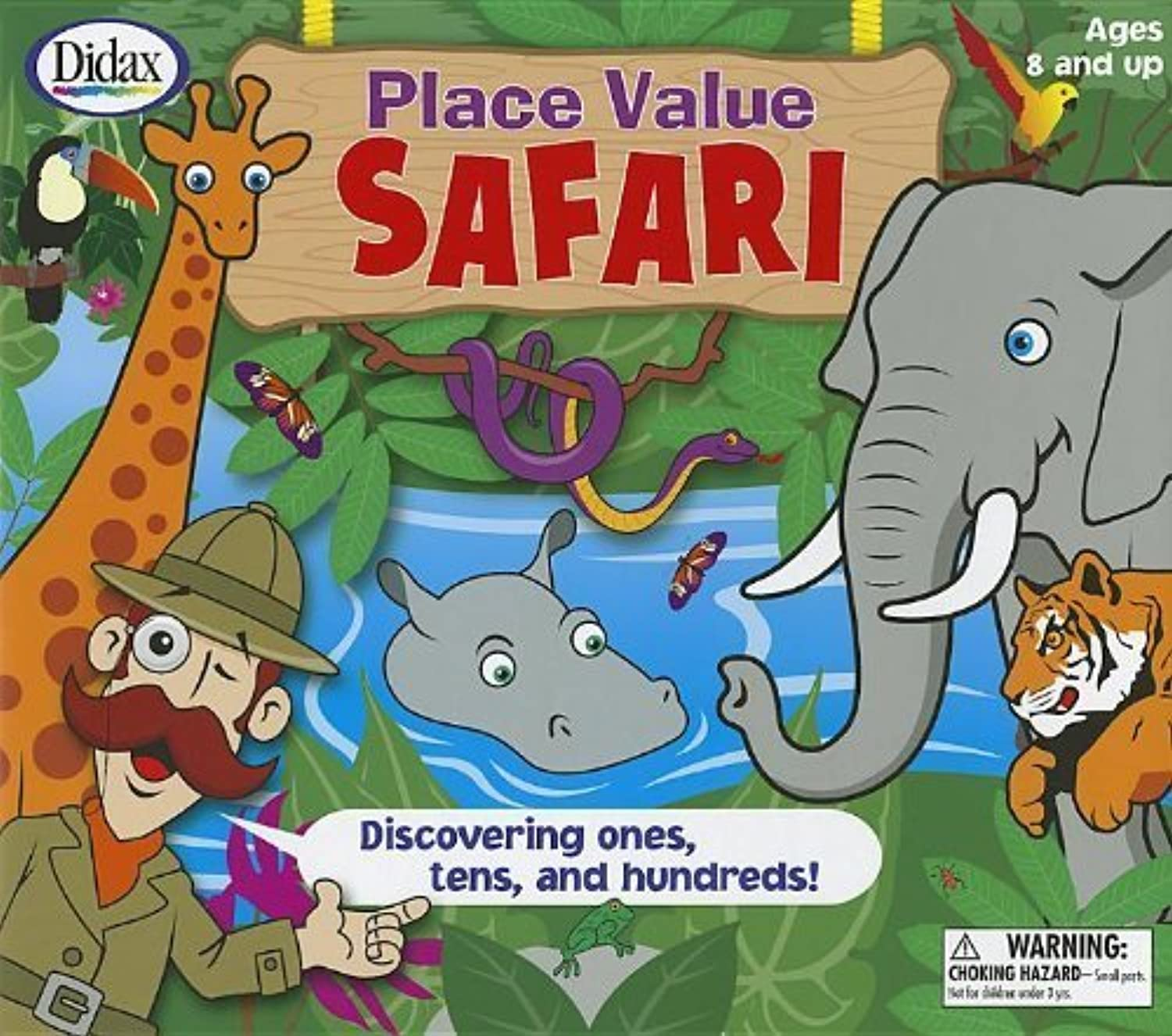 muchas concesiones Place Value Safari  Discovering Ones, Tens, and Hundrojos    [With 2 Six-Sided Dice and 4 Safari Boards, 15 Jungle Cocheds, 4 Counters and Jungle Jugaring B by Didax  Web oficial