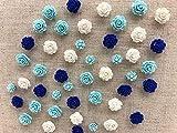 Seven YJ. 24Pcs Decorative Pushpins,Cork Board Tacks,Bulletin Board Tacks,Thumb Tack Decorative for CorkBoard, Office Organization or Home (Blue)