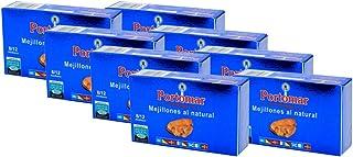 Mejillones de las Rías Gallegas al natural- 8-12 pzs/lata-Portomar-Pack 8 x 111gr-total= 888gr.