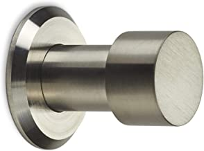 SOTECH kapstokhaak Tuula RVS geborsteld lengte: 33 mm incl. plaatje en bevestigingsset