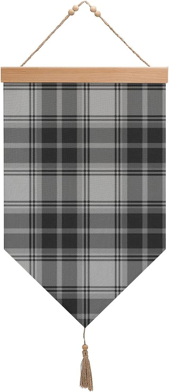 sullivan Free shipping beare tartan grey Cotton and tassels with linen E OFFicial flags