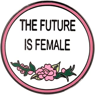 The Future is Female Flowers Brooch Feminist Pin