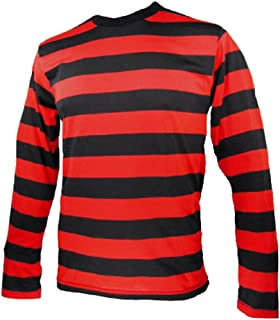 Largemouth Long Sleeve Striped Shirt Black and Red