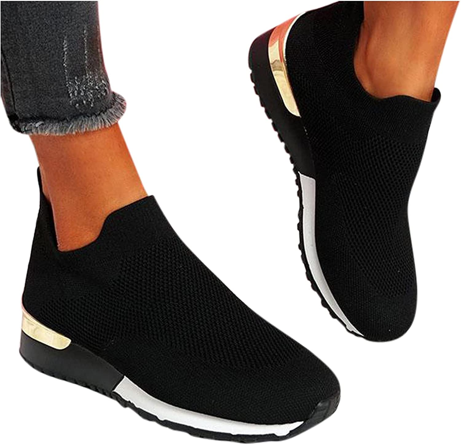 AODONG Running Shoes for Women Comfy Sneaker Shoes Slip On Loafers Fashion Canvas Shoes Casual Summer Travel Daily Walking Shoes