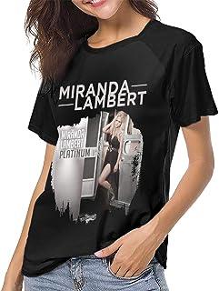 2c9ab5ed Fanniemo Women's T Shirts Miranda Lambert Raglan Shirt Short Sleeve  Baseball Tee
