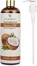 Wasserstein Aceite esencial de coco fraccionado con dispensador – 100% puro y natural. Aceite para aromaterapia y aceite para masaje (16oz/473ml, coco)