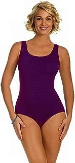 Women's Krinkle Chlorine-Proof Cross Back Maillot One Piece Swimsuit